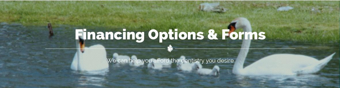 Financing Options and Forms banner